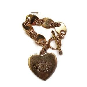 Juicy Couture Gold and Wood Charm Bracelet